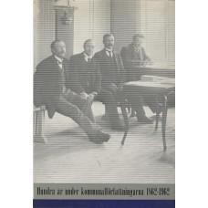 Hundraår<br /> underkommunalförfattningarna<br /> 1862-1962